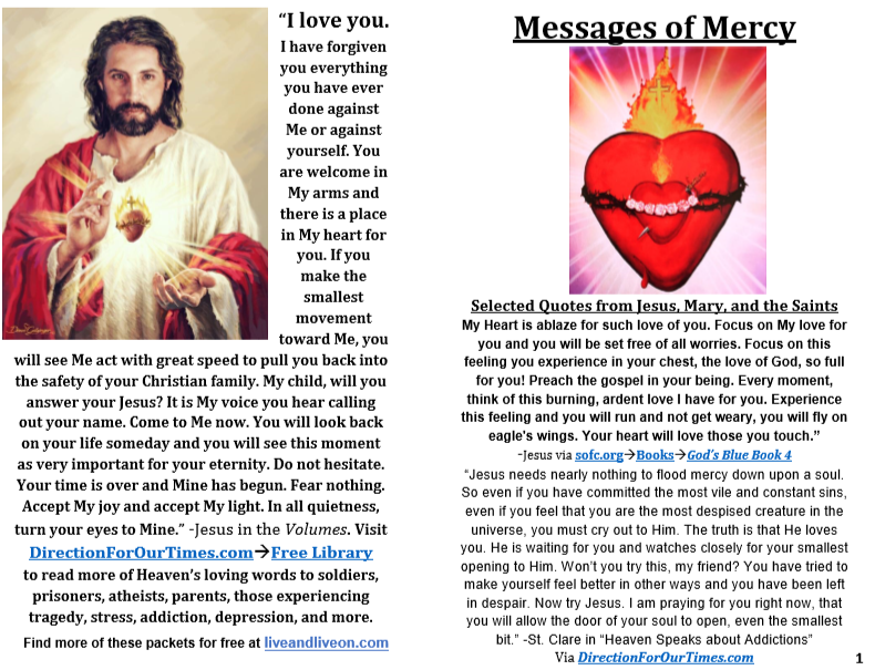 Messages of Mercy (Brochure)