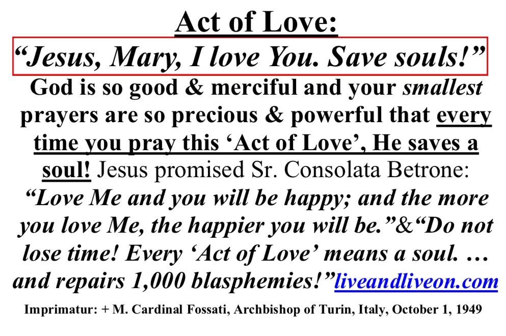 Act of Love Prayer