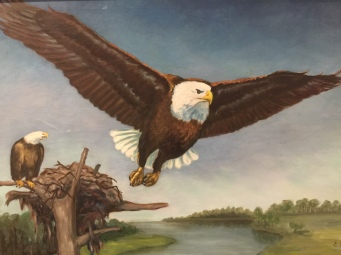 Grandma's Painting of An Eagle