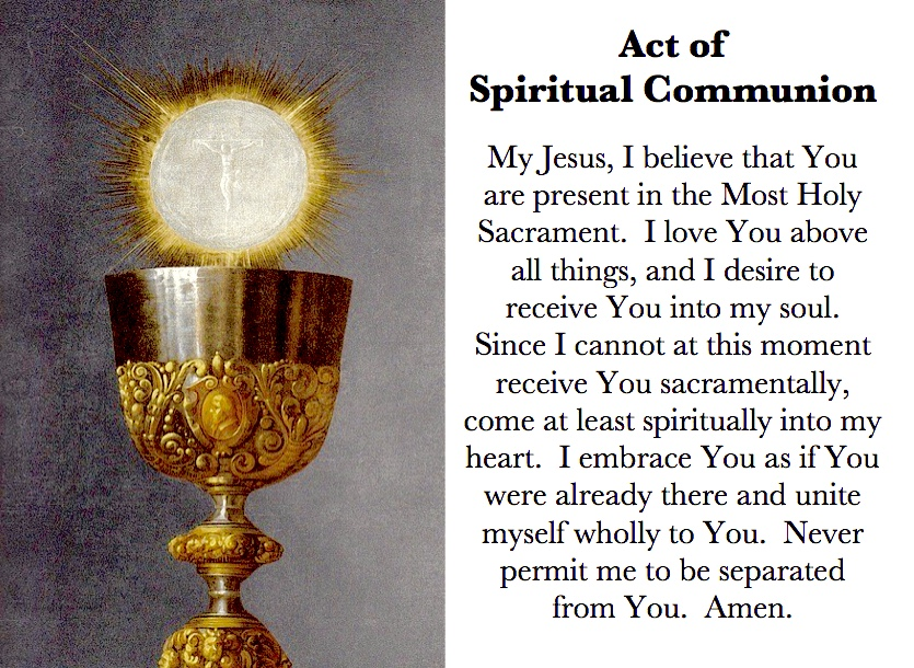 Act of Spiritual Communion