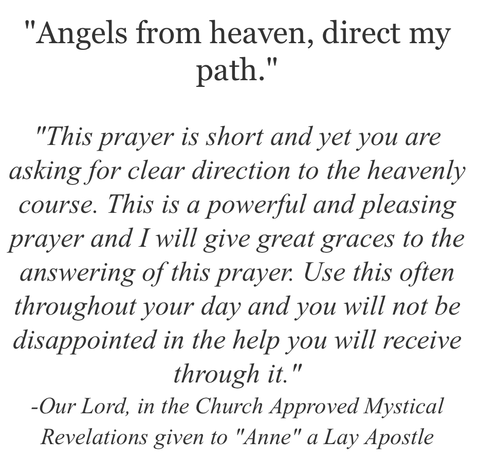 Angels of Heaven Direct My Path