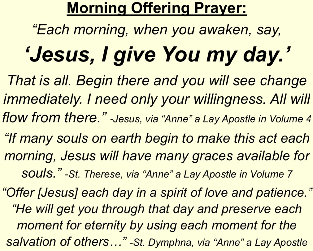 Jesus I Give You My Day