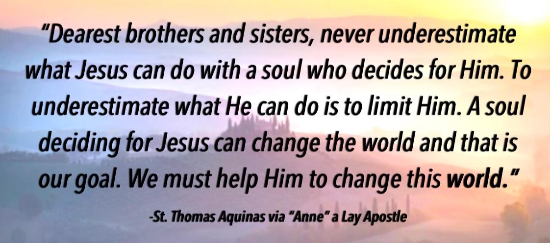 St Thomas Aquinas Quote